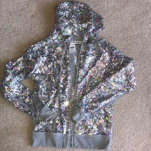 Reversible PINK Sequined Sweatshirt